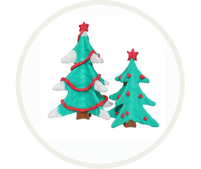 Kerstboom met foam clay