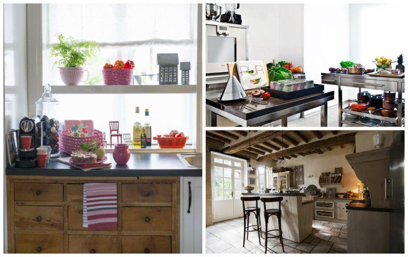 keramisch keukenblad in verschillende stijlen