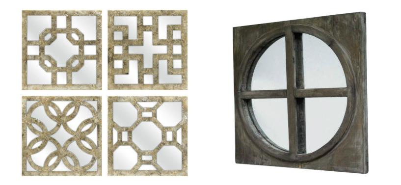 landelijke badkamers spiegels oosterse stijl brocante hout