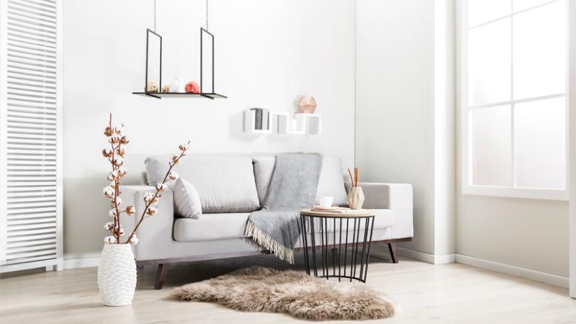 witte vloeren Scandinavische stijl pastelkleuren