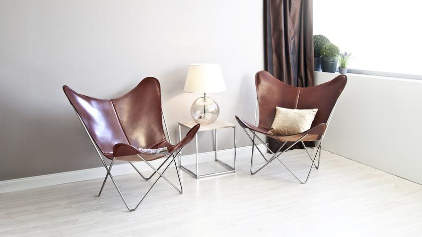 design fauteuils koeienhuid met kussens
