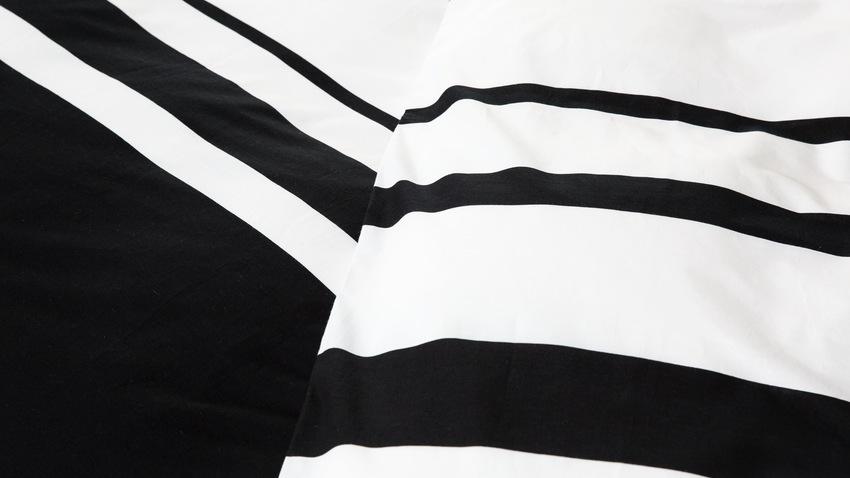dekbedovertrek zwart-wit gestreept