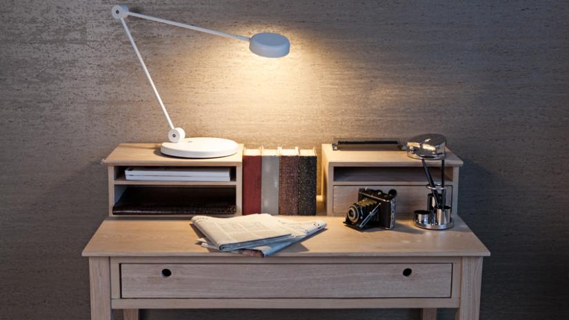 Bureau hera chroom hout hoogglans wit kokoon design lil