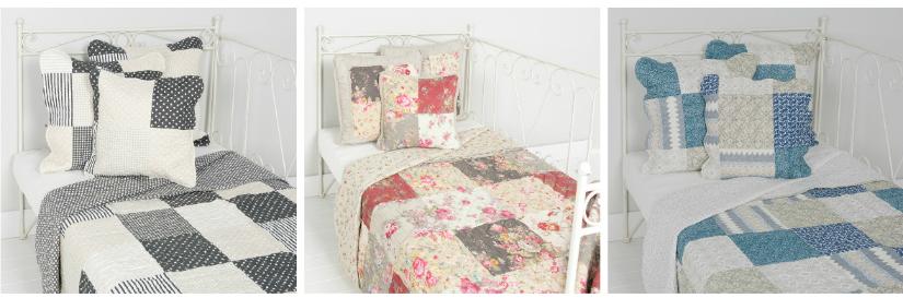 Patchwork sprei meerdere kleuren klassieke romantische stijl