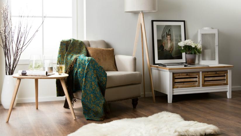 plaid groen donkergroen klassieke interieurstijl fauteuil