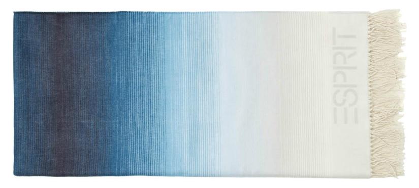 plaid turquoise ombre kleuren wit naar groenblauw