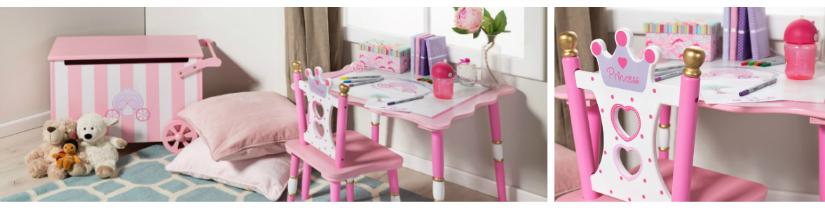 roze bureau kinderkamer stoel speelhoek