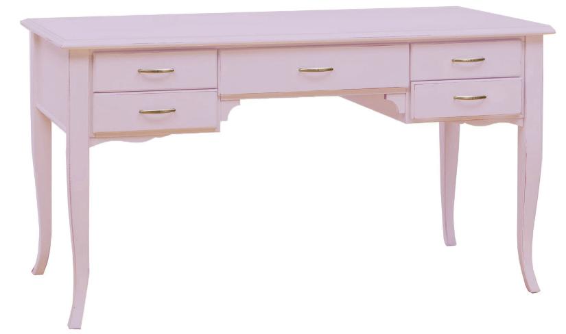 roze bureau laden klassieke romantische stijl lichtroze pastel