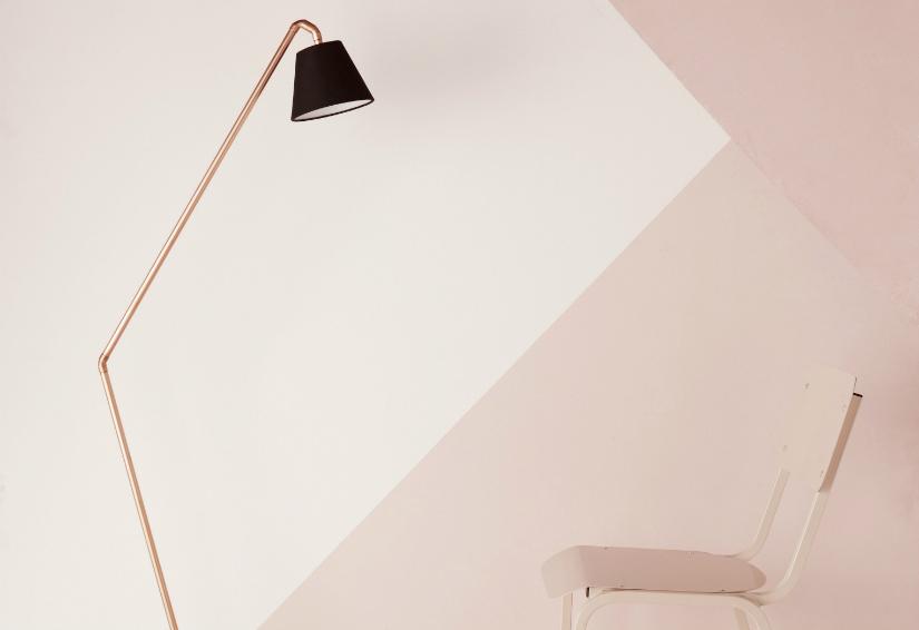 roze bureau trend mood pastelkleur strakke lijnen Scandinavisch