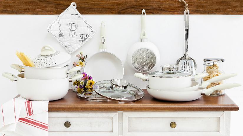 Siliconen ovenwant romantische landelijke stijl keuken witte kleur