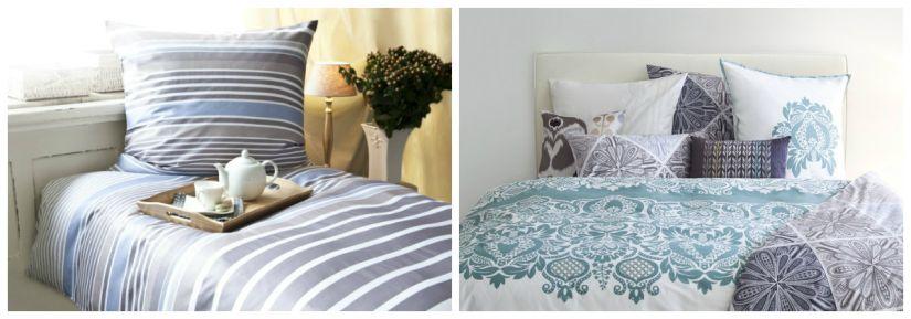 dekbedovertrek lichtblauw in landelijke en moderne versie
