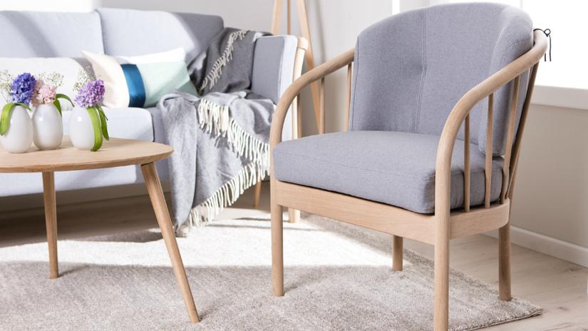 Wollen plaids modern interieur Scandinavisch lichtgrijs