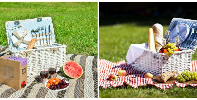 zomerdeken fruit eten gestreept deken kleed picknicken grasveld