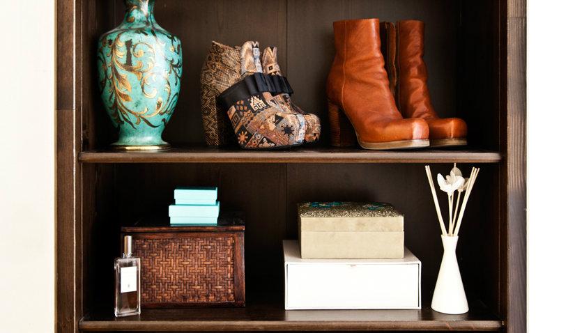 Dębowa półka na buty