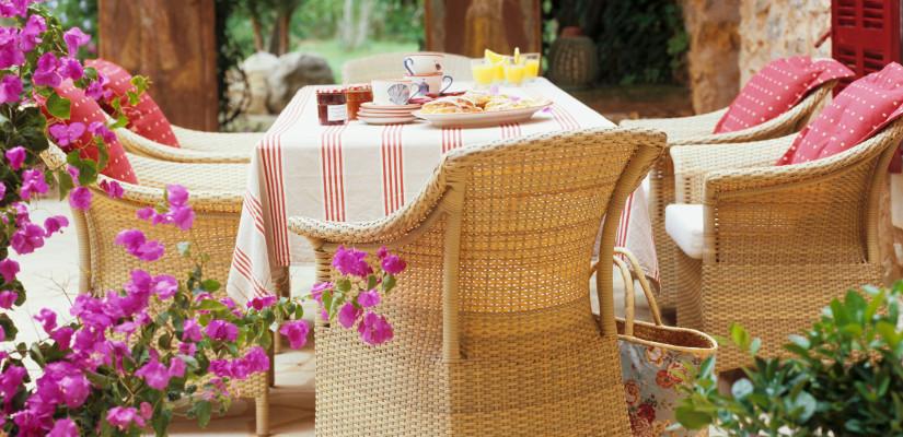 meble balkonowe i ogrodowe z wikliny