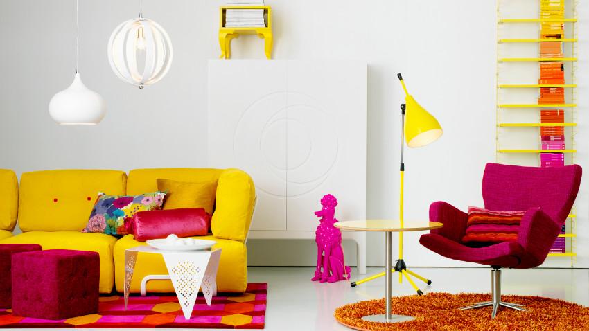 stolik kawowy w stylu nowoczesnym: energetyczne kolory