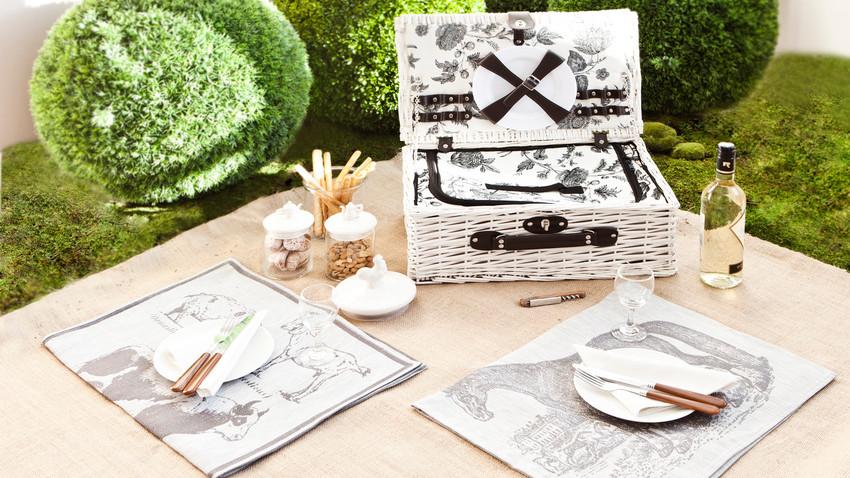 kosz wiklinowy na piknik