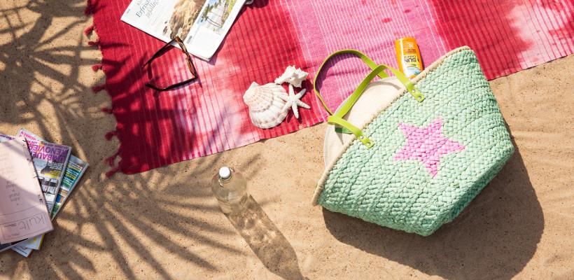 torba plażowa na piasku