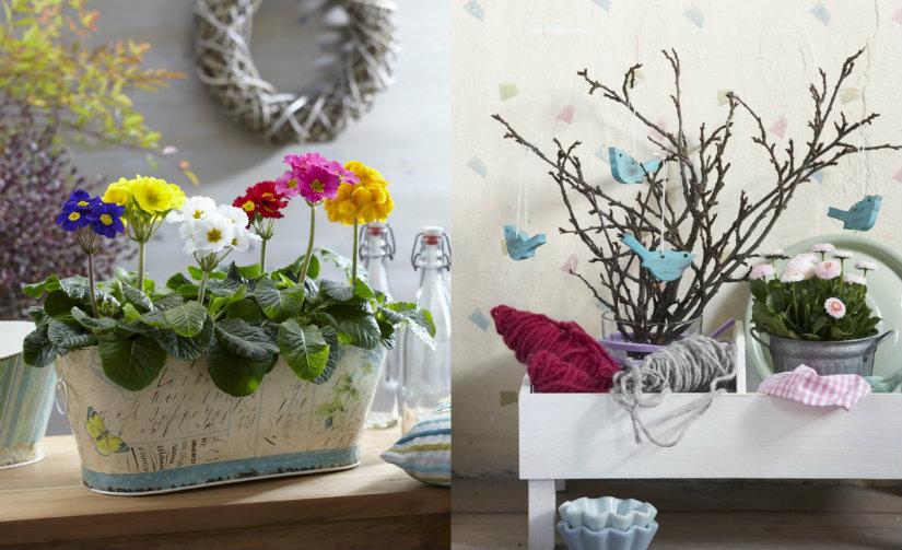 Wiosenne dekoracje z kwiatów