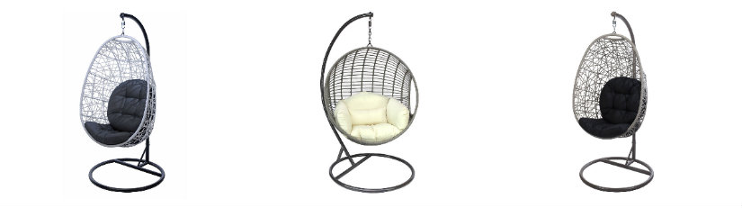 Ażurowy fotel huśtawka