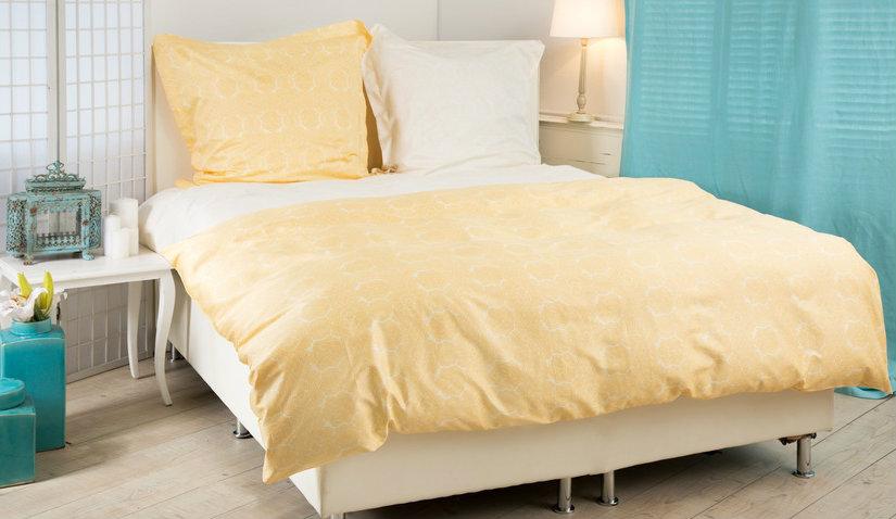 Elegancka żółta pościel 180x200