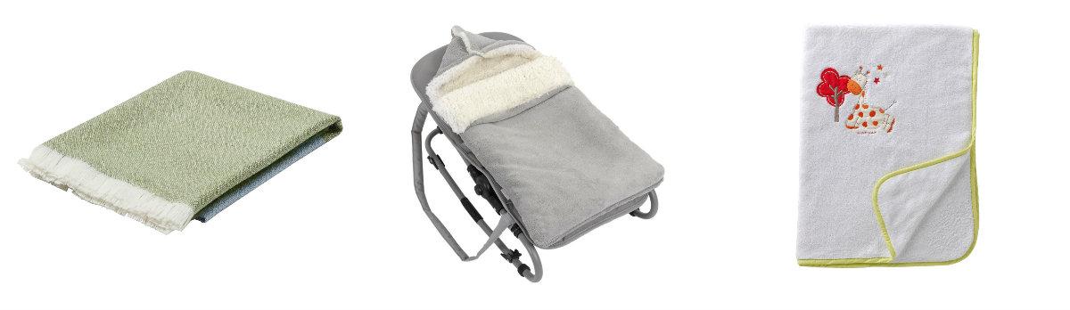 Koc kolorowy bawełniany dla niemowlaka