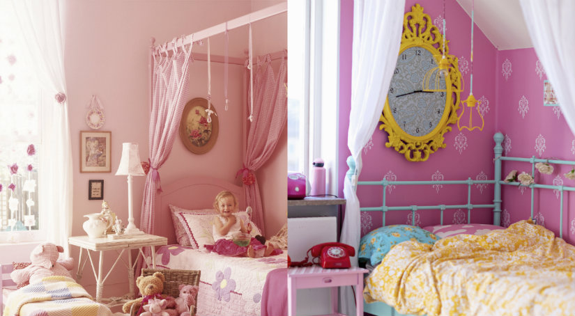 Kolorowe łóżko dla dziewczynki