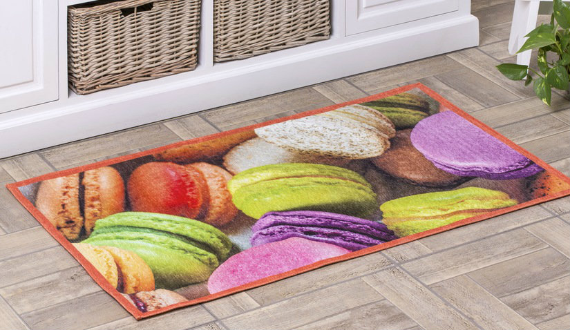 Kolorowy dywan do kuchni z nadrukiem