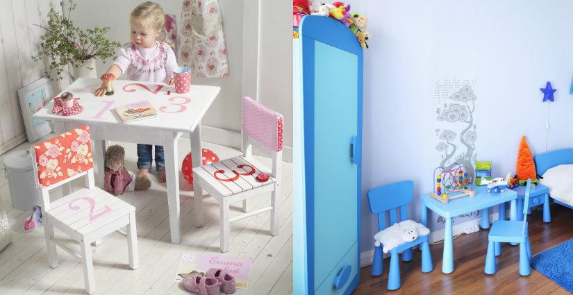 Kolorowy stolik i krzesełko dla dziecka