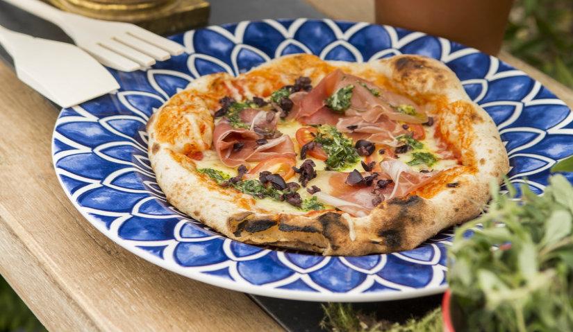 Malowany talerz do pizzy
