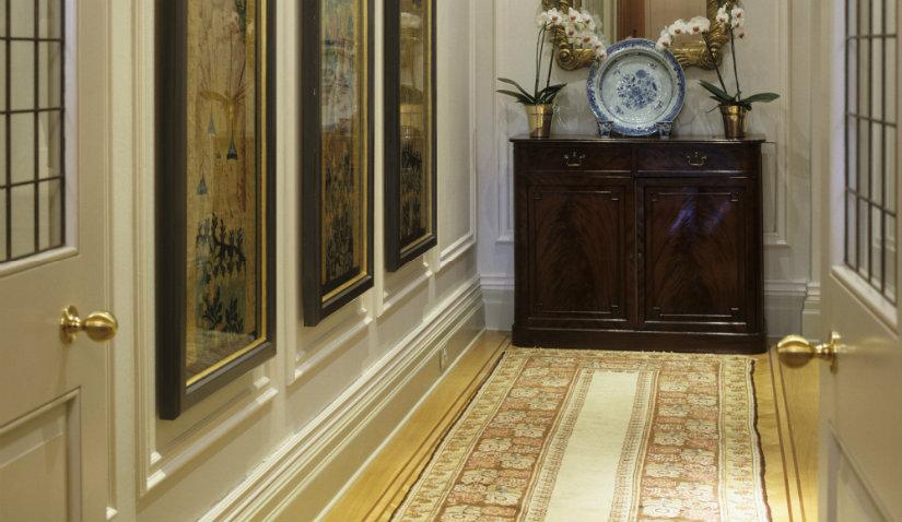 Miękki perski dywan do przedpokoju