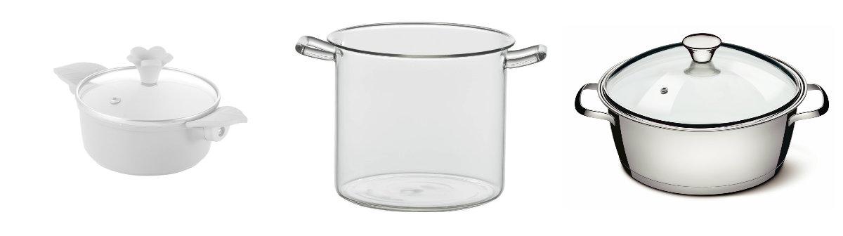 Nowoczesne garnki szklane