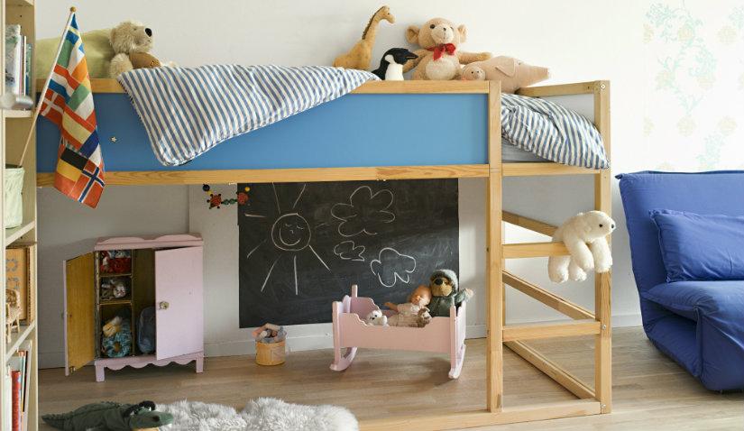 Piętrowe łóżko dla dziewczynki