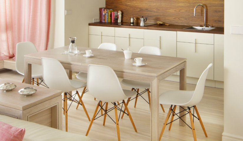 Szafka kuchenna stojąca w stylu skandynawskim