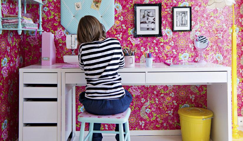 Uroczy różowy pokój dla chłopca i dziewczynki