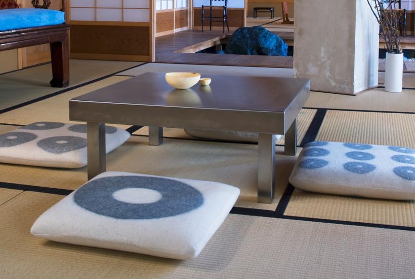 dywan bambusowy, na którym można usiąść