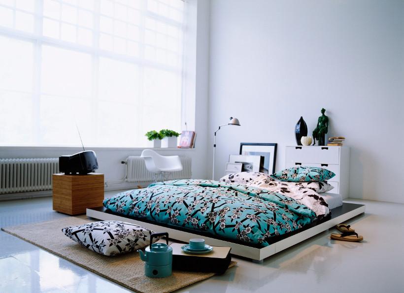 dywan bambusowy we wnętrzu minimalistycznym