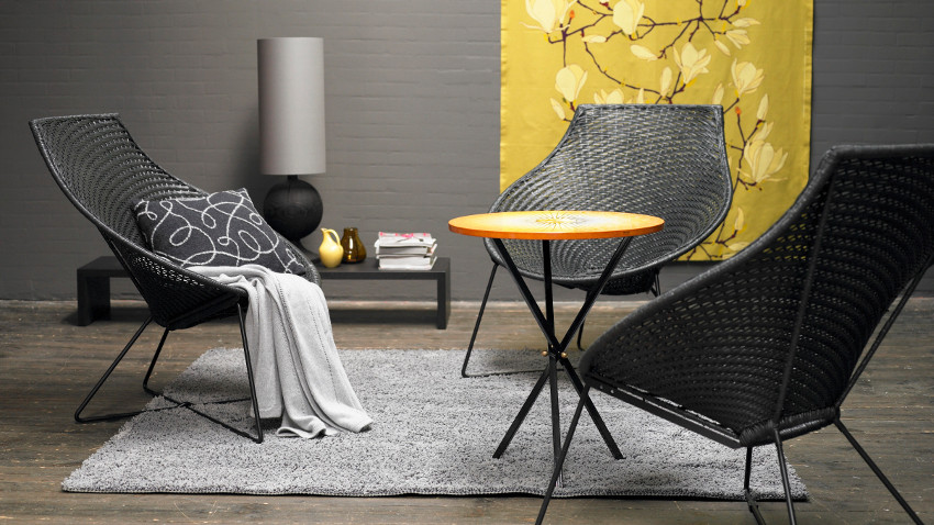 krzesło rattanowe - rattan barwiony
