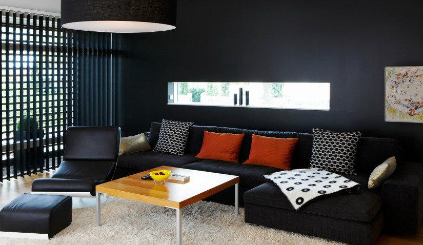 Czarny fotel-leżanka