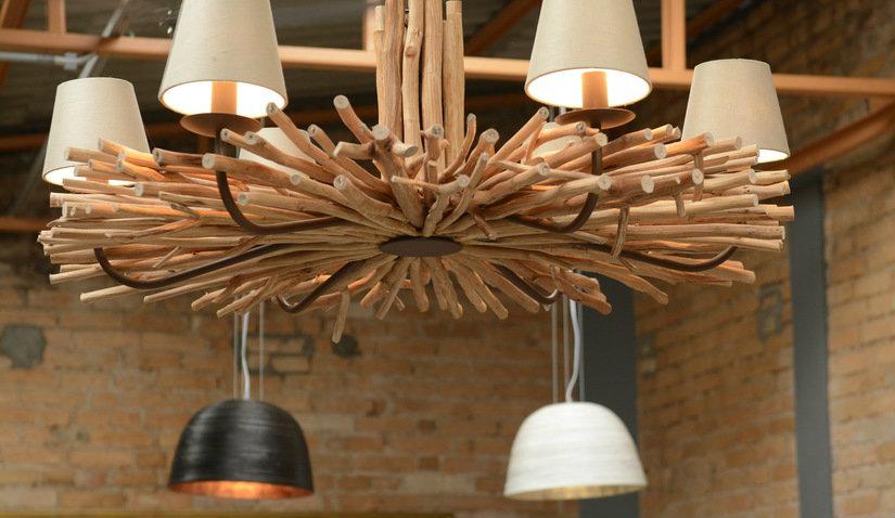 eleganckie lampy drewniane