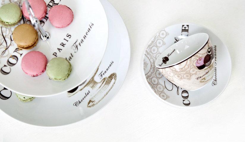 Eleganckie talerze deserowe z porcelany