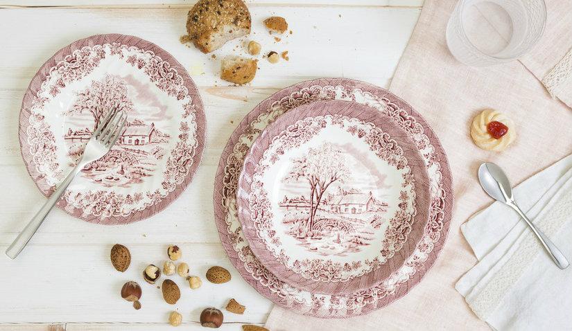 Porcelanowe talerze deserowe