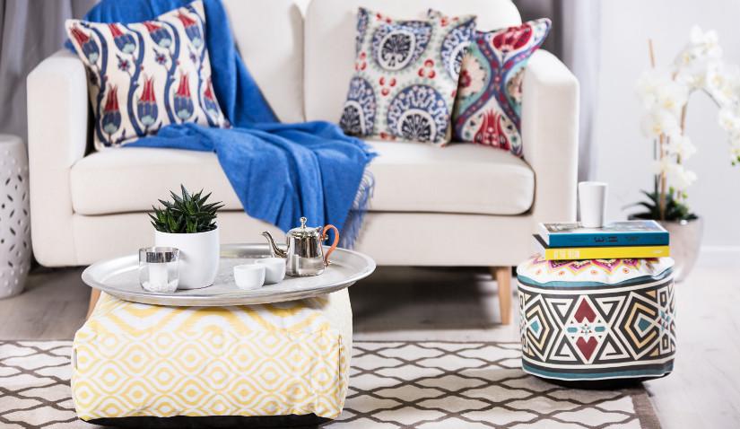 sofa jednoosobowa biała