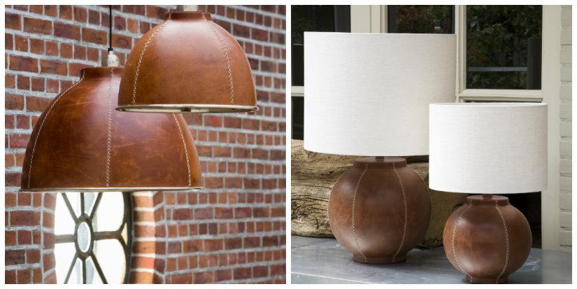 stojące lampy drewniane