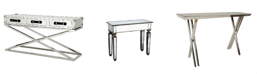 stolik metalowy glamour