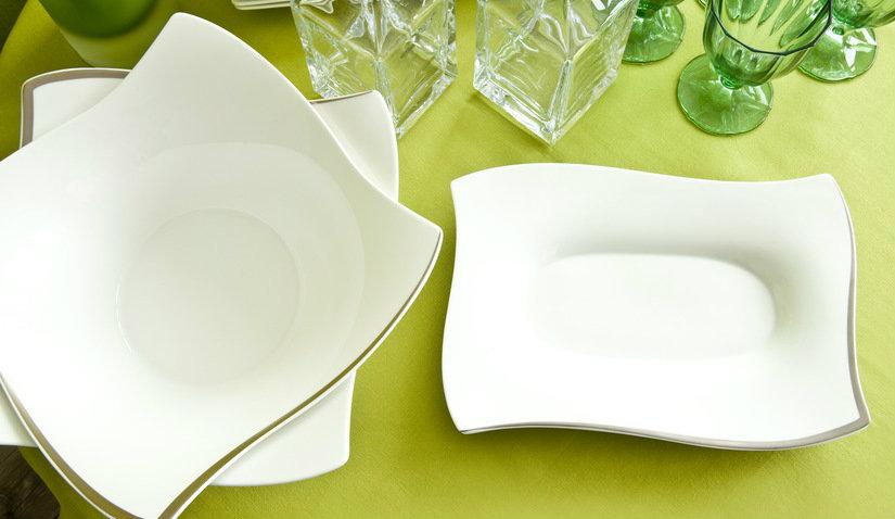 talerze kwadratowe z porcelany