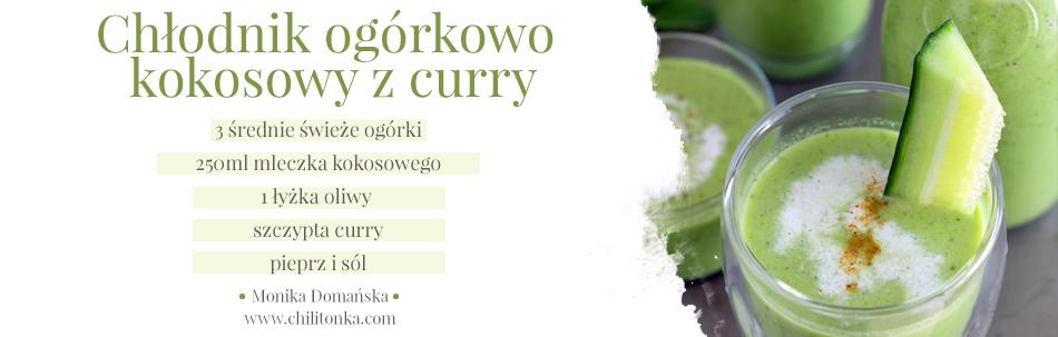 Chłodnik ogórkowo kokosowy z curry