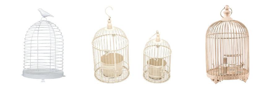 Klatki dla ptaków jako dekoracje w stylu prowansalskim