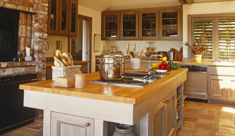 Meble kuchenne z wyspą — zdjęcia, porady, inspiracje -> Kuchnia Rustykalna Zdjecia
