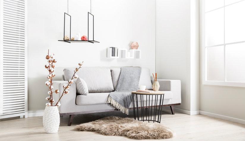 Podłoga w stylu skandynawskim w nowoczesnej aranżacji